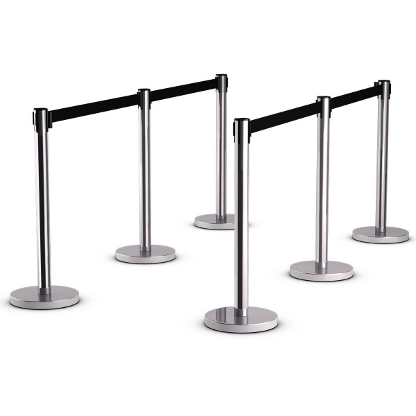 S/S Retractable Belt Stanchion with 2/3 Meters